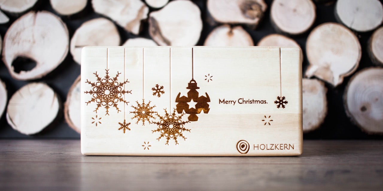 Die Holzkern Weihnachts-Box