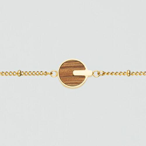 Opacity Armband (Marmorholz/Gold)