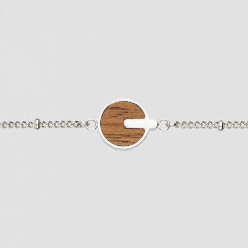 Opacity Armband (Walnuss/Silber)