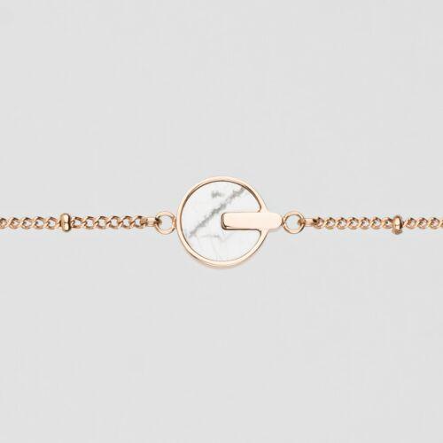 Opacity Armband (Weißer Marmor/Rosé)