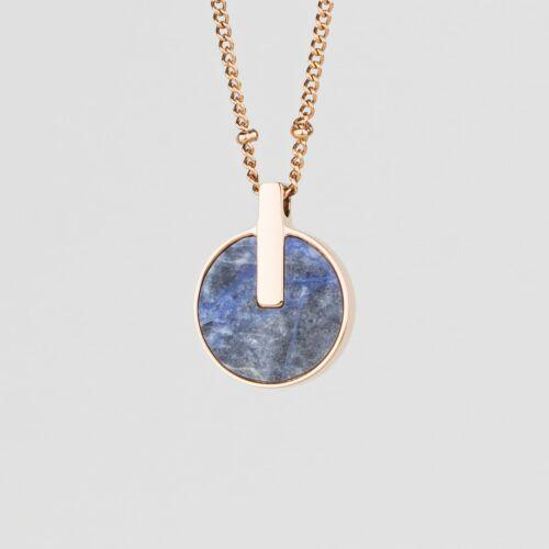 Opacity Halskette (Blauer Marmor/Rosé)