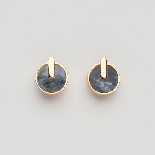Orecchini Opacity (Marmo Blu/Oro Rosa)