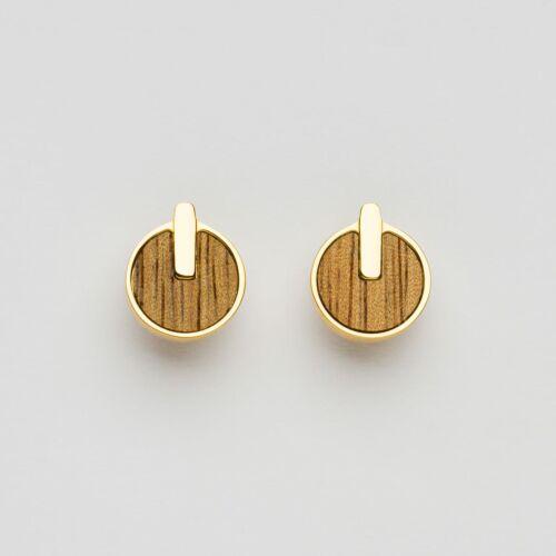 Opacity Earrings (Marblewood/Gold)