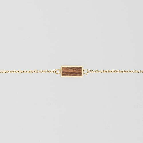 Abstract Bracelet (Walnut/Gold)