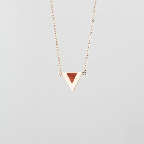 Scale Halskette (Padouk/Roségold)