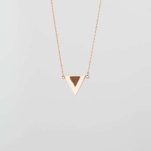 Scale Necklace (Walnut/Rose Gold)