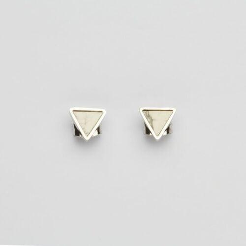 Boucles d'oreilles Scales (Turquoise/Argent)