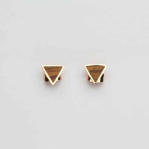 Scale Earrings (Walnut/Rose Gold)