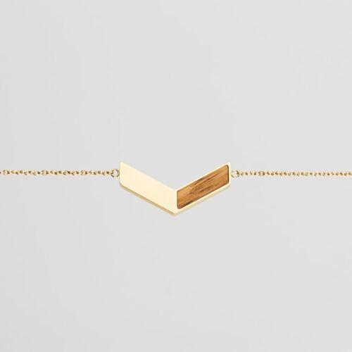 Elevation Armband (Zebrano/Gold)