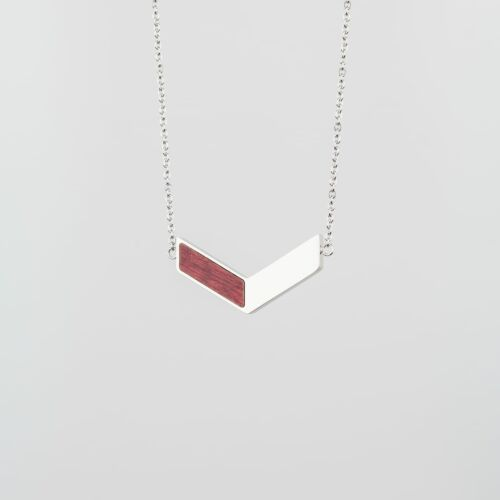 Collier Elevation (Amarante/Argent)
