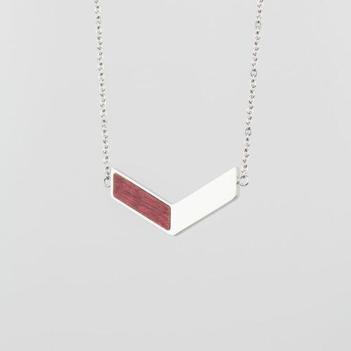 Elevation Halskette (Amaranth/Silber)