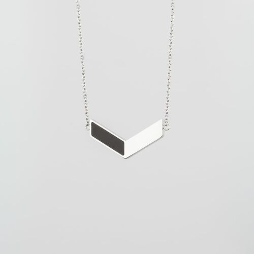 Collier Elevation (Ardoise/Argent)