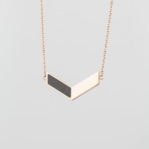 Elevation Halskette (Marmor/Roségold)
