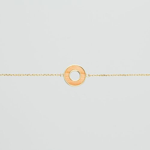 Ornament Armband (Apfel/Gold)