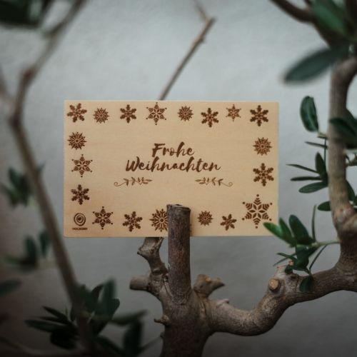 Holzpostkarte Frohe Weihnachten