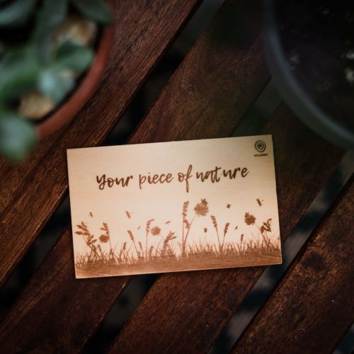 "Carte en bois ""Your Piece of Nature"""