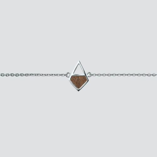Mandala Armband (Walnuss/Silber)