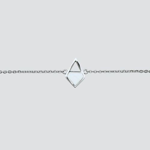 Mandala Armband (Marmor/Silber)