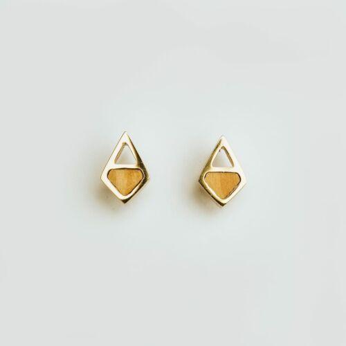 Mandala Ohrringe (Olive/Gold)