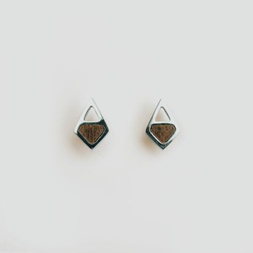 Mandala Earrings (Walnut/Silver)
