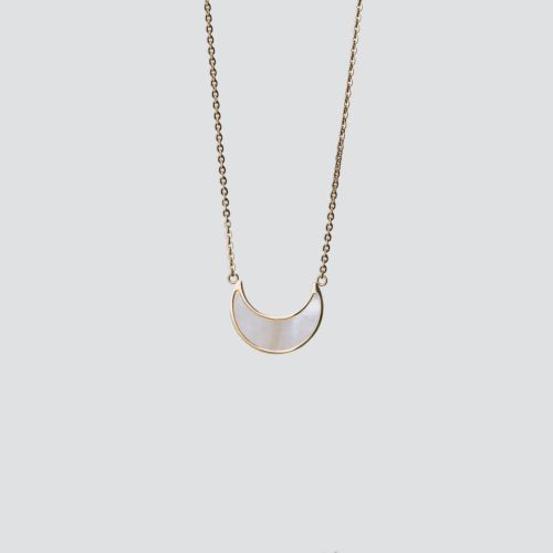 Collier Hue (Nacre Blanche/Or)