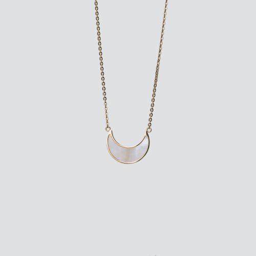 Hue Halskette (Weißes Perlmutt/Gold)