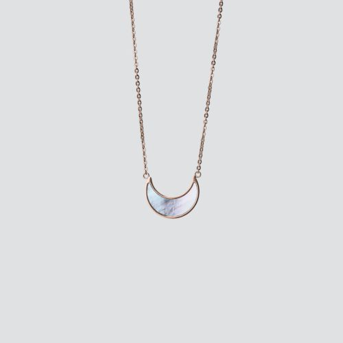 Collier Hue (Nacre Bleue/Or Rose)