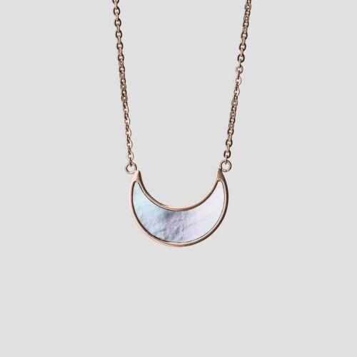 Hue Halskette (Blaues Perlmutt/Rosé)