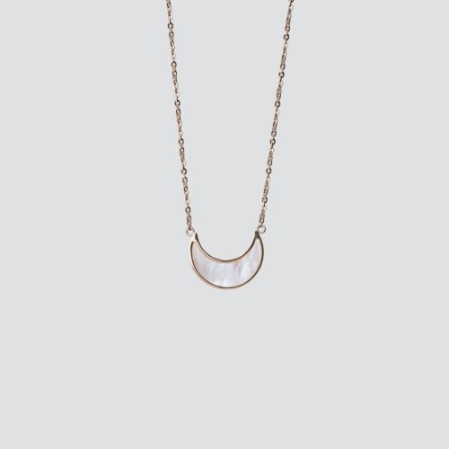 Collier Hue (Nacre Blanche/Or Rose)