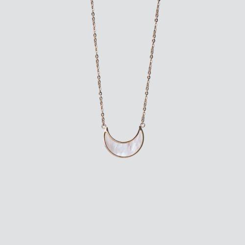 Hue Halskette (Weißes Perlmutt/Rosé)