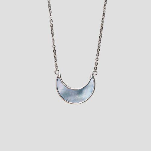 Hue Halskette (Blaues Perlmutt/Silber)