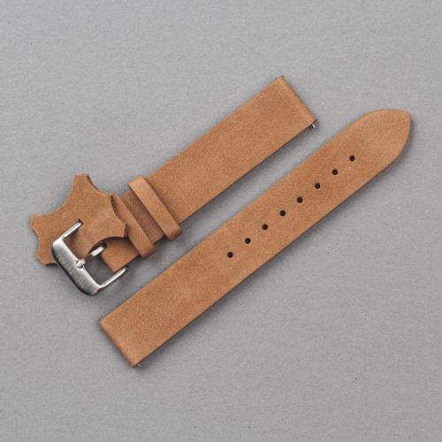 Strap Leon 18mm (Light Brown/Silver)