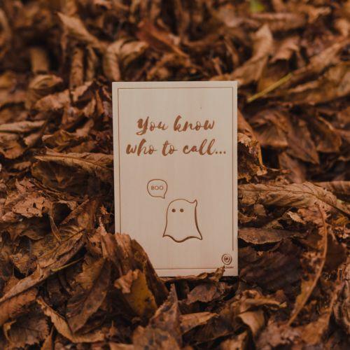Holzpostkarte BOO