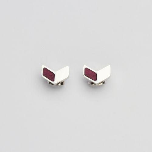 Boucles d'oreilles Elevation (Amarante/Argent)