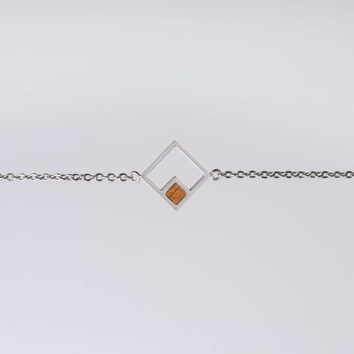 Bracelet Geometric (Koa/Argent)