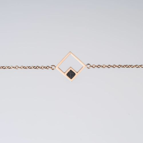 Bracelet Geometric (Marbre/Or rose)
