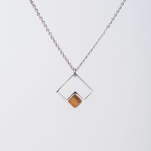 Collana Geometric (Koa/Argento)