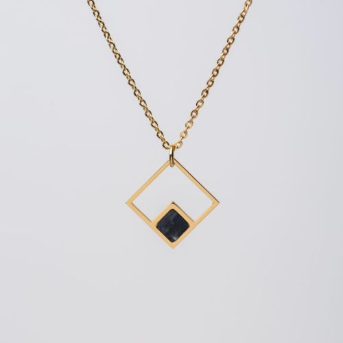 Collana Geometric (Marmo/Oro Rosa)