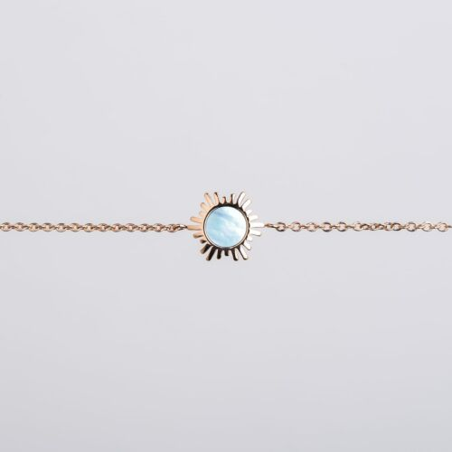 Bracelet Shade (Nacre Bleue/Or Rose)