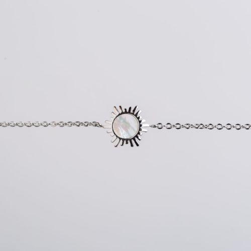 Shade Armband (Weißes Perlmutt/Silber)