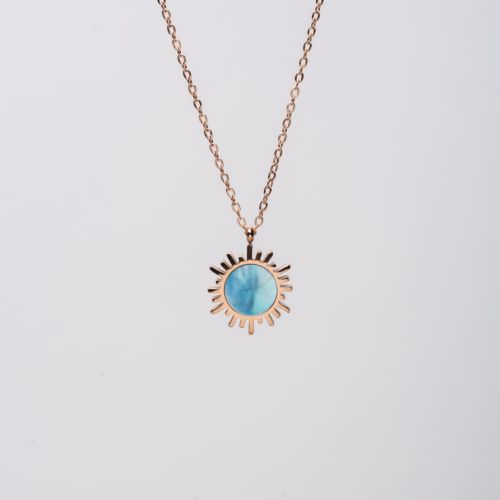 Collier Shade (Nacre Bleue/Or Rose)