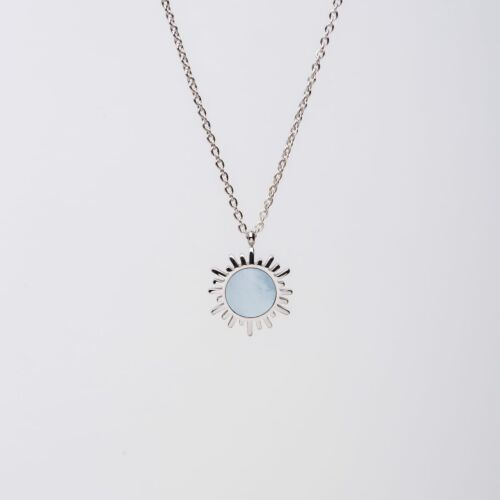 Shade Necklace (Blue Nacre/Silver)