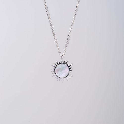 Shade Halskette (Weißes Perlmutt/Silber)