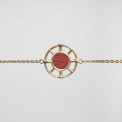 Amulett Armband (Amaranth/Gold)