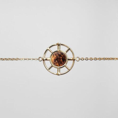 Amulett Armband (Tigerauge/Gold)
