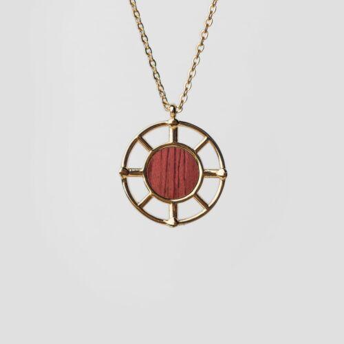 Amulett Halskette (Amaranth/Gold)