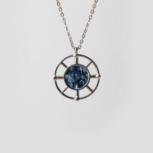 Amulett Halskette (Marmor/Silber)