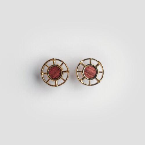 Amulett Ohrringe (Amaranth/Gold)