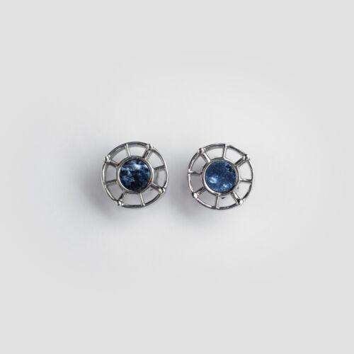 Amulett Ohrringe (Marmor/Silber)