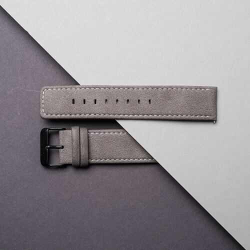 Strap Robin 22mm Vegan (Grey/Black)